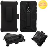 *Sale* Rugged Hybrid Armor Case and Holster for LG K30  - Black