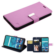 *SALE* Essential Leather Wallet Stand Case for LG Stylo 4 - Purple