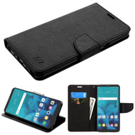 *Sale* Diary Leather Wallet Case for LG Stylo 4 - Black