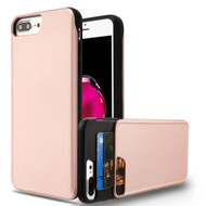 Under Cover Card Slot Case for iPhone 8 Plus / 7 Plus - Rose Gold