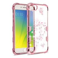 TUFF Klarity Electroplating Transparent Anti-Shock TPU Diamond Case for iPhone 8 / 7 / 6S / 6 - Lily of Valley