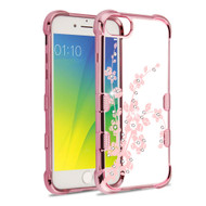 *Sale* TUFF Klarity Electroplating Transparent Anti-Shock TPU Diamond Case for iPhone 8 / 7 / 6S / 6 - Spring Flowers