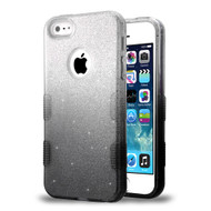 Tuff Full Glitter Hybrid Protective Case for iPhone SE / 5S / 5 - Gradient Black