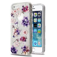 Tuff Full Diamond Glitter Hybrid Protective Case for iPhone SE / 5S / 5 - Purple Stargazers