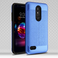 Leather Texture Anti-Shock Hybrid Protection Case for LG K30 - Blue