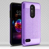 Leather Texture Anti-Shock Hybrid Protection Case for LG K30 - Purple