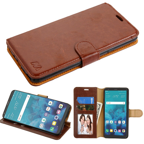 Sale Book Style Leather Folio Wallet Case For Lg Stylo 4