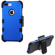 Military Grade Certified TUFF Hybrid Armor Case with Holster for iPhone 8 Plus / 7 Plus - Blue