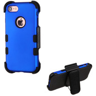 Military Grade Certified TUFF Hybrid Armor Case with Holster for iPhone 8 / 7 - Blue