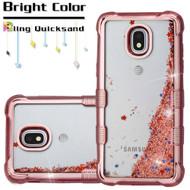 uff Lite Quicksand Electroplating Case for Samsung Galaxy J3 (2018) - Rose Gold