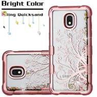 *Sale* Tuff Lite Quicksand Electroplating Case for Samsung Galaxy J3 (2018) - Maple Vine