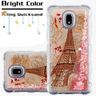 *Sale* Tuff Lite Quicksand Case for Samsung Galaxy J3 (2018) - Eiffel Tower
