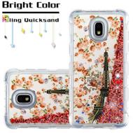 *Sale* Tuff Lite Quicksand Case for Samsung Galaxy J3 (2018) - Paris Full Bloom