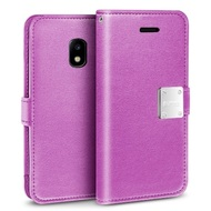 *Sale* Essential Leather Wallet Case for Samsung Galaxy J3 (2018) - Purple