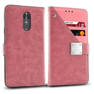 *Sale* Cosmopolitan Leather Canvas Wallet Case for LG Stylo 4 - Pink