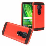 Brushed Hybrid Armor Case for Motorola Moto G6 Play / G6 Forge - Red