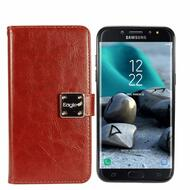*Sale* Leather Wallet with Removable Magnetic Case for Samsung Galaxy J7 (2018) - Brown
