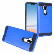 *Sale* Brushed Coated Hybrid Armor Case for LG G7 ThinQ - Blue