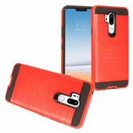 *Sale* Brushed Coated Hybrid Armor Case for LG G7 ThinQ - Red