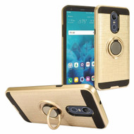 *Sale* Sports Hybrid Armor Case with Smart Loop Ring Holder for LG Stylo 4 - Gold