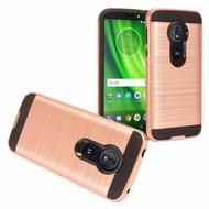 Brushed Hybrid Armor Case for Motorola Moto G6 Play / G6 Forge - Rose Gold
