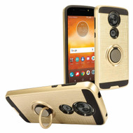 *Sale* Sports Hybrid Armor Case with Smart Loop Ring Holder for Motorola Moto E5 Plus - Gold