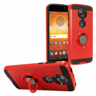 *Sale* Sports Hybrid Armor Case with Smart Loop Ring Holder for Motorola Moto E5 Plus - Red
