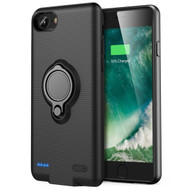 Smart Power Bank Battery Case 2500mAh with Ring Holder for iPhone 8 / 7 / 6S / 6 - Black