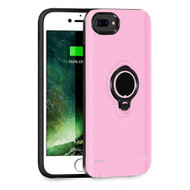 *SALE* Smart Power Bank Battery Case 3700mAh with Ring Holder for iPhone 8 Plus / 7 Plus / 6S Plus / 6 Plus - Pink