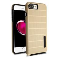 Haptic Dots Texture Anti-Slip Hybrid Armor Case for iPhone 8 Plus / 7 Plus - Gold