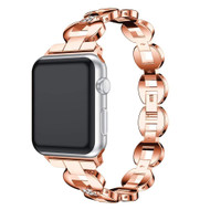 *SALE* Stainless Steel Diamond Chain Watch Band for Apple Watch 44mm / 42mm - Rose Gold
