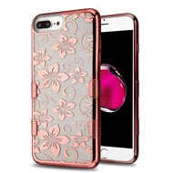 Tuff Lite Quicksand Glitter Case for iPhone 8 Plus / 7 Plus / 6S Plus / 6 Plus - Hibiscus Flower