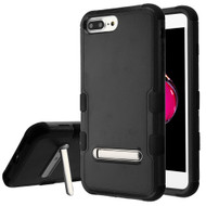 Military Grade Certified TUFF Hybrid Armor Case with Stand for iPhone 8 Plus / 7 Plus / 6S Plus / 6 Plus - Black