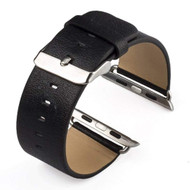 Genuine Cowhide Leather Classic Buckle Watch Band for Apple Watch 38mm - Black