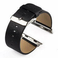 Genuine Cowhide Leather Classic Buckle Watch Band for Apple Watch 40mm / 38mm - Black