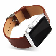 *Sale* Genuine Cowhide Leather Classic Buckle Watch Band for Apple Watch 38mm - Brown