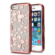 Tuff Lite Quicksand Electroplating Case for iPhone SE / 5S / 5 - Hibiscus Flower