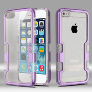 TUFF Panoview Transparent Hybrid Case for iPhone SE / 5S / 5 - Purple