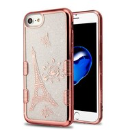 Tuff Lite Quicksand Glitter Electroplating Transparent Case for iPhone 8 / 7 / 6S / 6 - Eiffel Tower