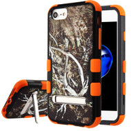 Military Grade Certified TUFF Image Hybrid Armor Case with Stand for iPhone 8 / 7 / 6S / 6 - Tree Camouflage