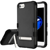Military Grade Certified TUFF Hybrid Armor Case with Stand for iPhone 8 / 7 / 6S / 6 - Black