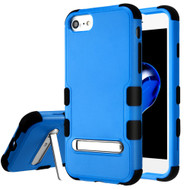 Military Grade Certified TUFF Hybrid Armor Case with Stand for iPhone 8 / 7 / 6S / 6 - Blue