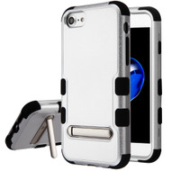 Military Grade Certified TUFF Hybrid Armor Case with Stand for iPhone 8 / 7 / 6S / 6 - Silver