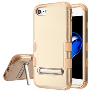 Military Grade Certified TUFF Hybrid Armor Case with Stand for iPhone 8 / 7 / 6S / 6 - Gold