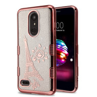 Electroplating Tuff Lite Quicksand Case for LG K30 - Eiffel Tower