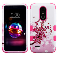 Military Grade Certified TUFF Image Hybrid Armor Case for LG K30 - Spring Flowers
