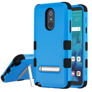 Military Grade Certified TUFF Hybrid Armor Case with Stand for LG Stylo 4 - Blue