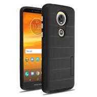 Haptic Dots Texture Anti-Slip Hybrid Armor Case for Motorola Moto E5 Plus - Black