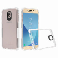 *Sale* Transparent Protective Bumper Case for Samsung Galaxy J7 (2018) - White