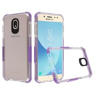*Sale* Transparent Protective Bumper Case for Samsung Galaxy J7 (2018) - Purple